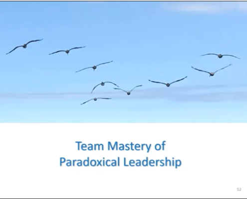 Illustrates Team Mastery of Paradoxical Leadership